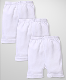 Red Rose Cycling Shorts Pack Of 3 - White