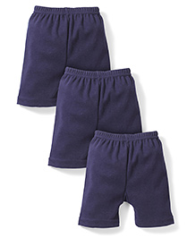 Red Rose Cycling Shorts Pack Of 3 - Navy Blue