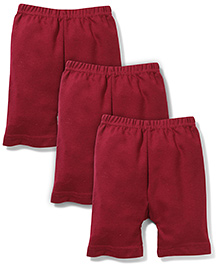 Red Rose Cycling Shorts Pack Of 3 - Maroon