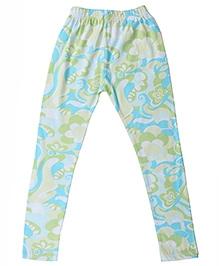 Printed Organic Cotton Leggings - Green