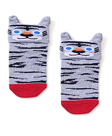 Mustang Socks Kitty Design - Grey