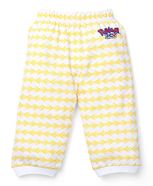 Babyhug Pokemon Abstract Designed Bottoms - White & Yellow