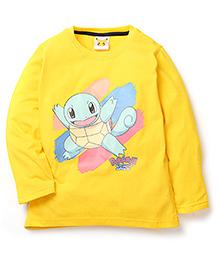 Babyhug Pokemon T-Shirt Squirtle Print - Yellow
