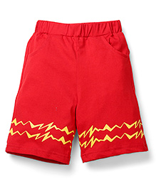 Babyhug Pokemon Toddler Shorts - Red