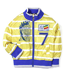 Noddy Original Clothing Stripe Jacket Numeric 7 Embroidery - Yellow