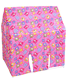 Lovely Play Tent House Multi Print - Pink