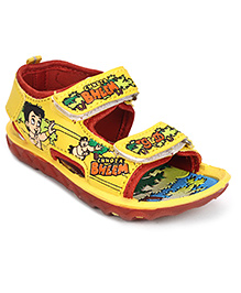 Chhota Bheem Sandals With Velcro Closure - Yellow