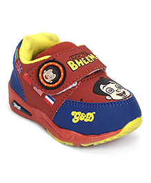 Chhota Bheem Casual Shoes With Velcro Closure - Brown Royal Blue
