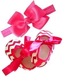 Bow Headband & Ballerina Set - Pink