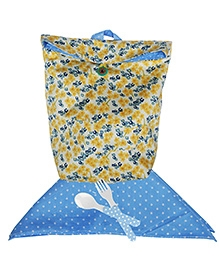 Little Flower Washable Lunch Bag And Napkin Set By Kadambaby