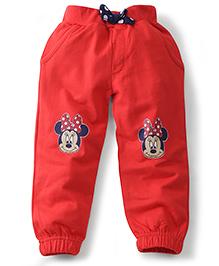 Disney by Babyhug Leggings Minnie Print - Red