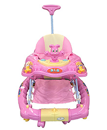 Polly's Pet Rocking Walker With Push Handle & Stopper Pink - 6100