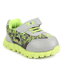 Chhota Bheem Sports Shoes With Velcro Closure - Grey And Green