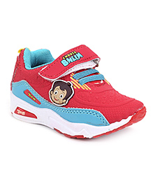 Chhota Bheem Sports Shoes With Velcro Closure - Blue And Red
