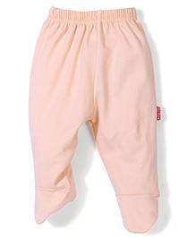 Child World Plain Bootie Leggings - Peach