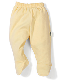 Child World Plain Bootie Leggings - Yellow