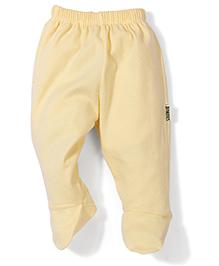 Child World Plain Bootie Leggings - Yellow