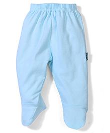 Child World Plain Bootie Leggings - Aqua