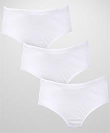 Babyhug Pack of 3 Plain Briefs - White