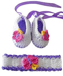 Dollops of Sunshine Butterfly Headband & Ballerinas - Purple