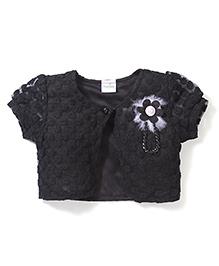 Babyhug All Over Designed Shrug - Black