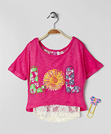 Cutie Patootie LOL Printed Top - Pink
