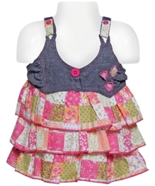 Singlet Frock With Bloomers - Flower Print