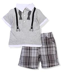 Boyz Wear by Nannette T-shirt & Shorts set - Grey