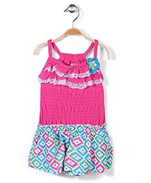 Nannette Beautiful Dress - Pink & Printed
