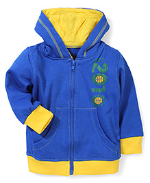 Babyhug Hooded Jacket 2010 Print - Royal Blue