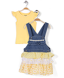 Nannette Dress Set - Yellow & Blue
