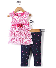 Nannette Tunic & Leggings Set - Pink