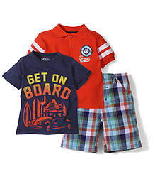 Boyz Wear by Nannette T-shirt & Pant Set - Multicolor