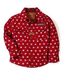 Little Kangaroos Shirt Star Print - Red