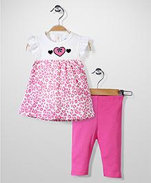 Bon Bebe Top & Leggings Set - Pink