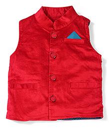 Little Kangaroos Sleeveless Party Jacket - Dark Red