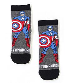 Mustang Captain America Theme Socks - Dark Grey & Black