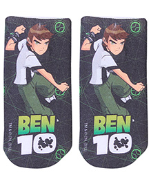 Mustang Ankle Length Socks Ben 10 Design  - Black And Green