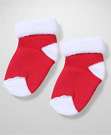 Mustang Ankle Length Socks Dual Color - Red White