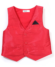 Beebay Solid Colour Waistcoat - Red