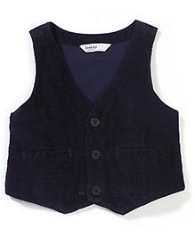 Beebay Solid Colour Waistcoat - Navy