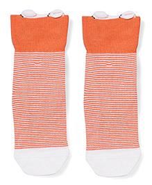 Mustang Ankle Length Striped Socks - Orange
