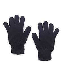 Babyhug Solid Color Gloves - Black
