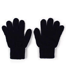 Babyhug Solid Color Gloves - Navy Blue