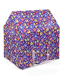Lovely Multi Print Play Tent House - Blue