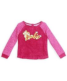 Barbie Raglan Sleeves Sweater Sequin Work - Pink