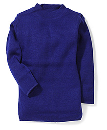 Babyhug Crew Neck Full Sleeves Sweater - Royal Blue