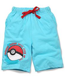 Babyhug Casual Shorts Pokemon Master Print - Bue