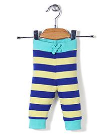 Pinehill Stripe Print Pants - Blue And Yellow