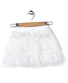Babyhug Layered Net Skirt - White